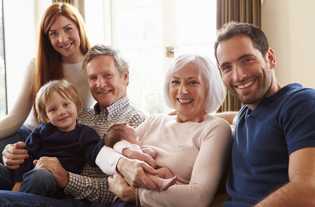 Grandparents with Family - Estate Planning
